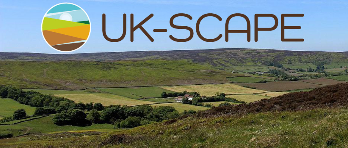 Yorkshire moors with UK Scape logo, taken from https://www.ceh.ac.uk/ukscape