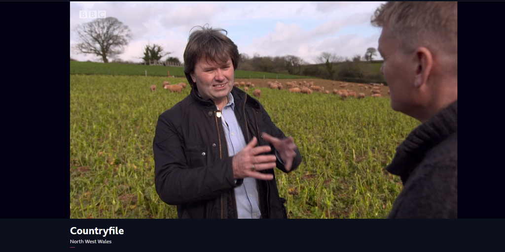 screen grab of Prof Bateman on Countryfile